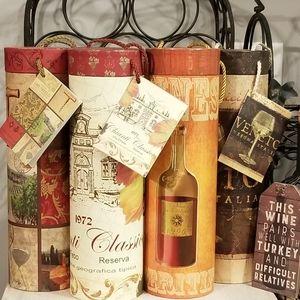 EUC. 4 Lot Wine Canister Decor For Any Season.
